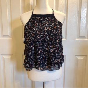 Abercrombie & Fitch Floral Ruffle Tank